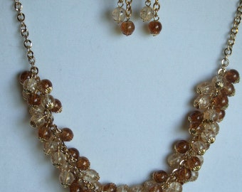 Brown and beige cluster set 0336NK