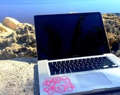 4 inch Monogram Decal Sticker Vinyl Great for Laptops and Notebooks