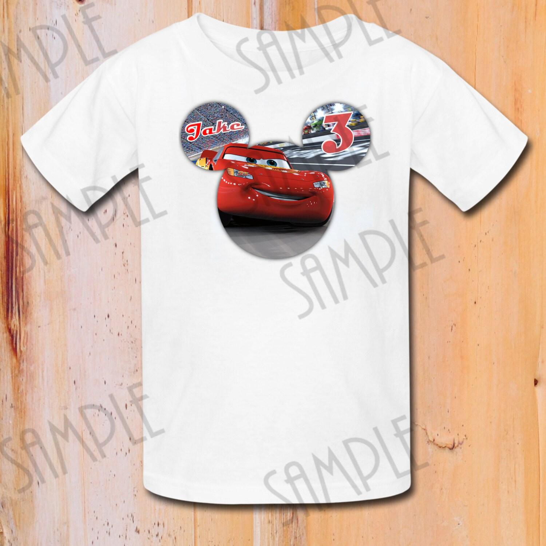 T Shirt Disney Cars Diy Custom Iron On Transfer Printable