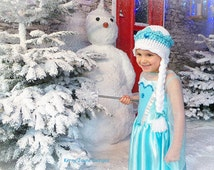 CHRISTMAS CROCHET PATTERN For little Frozen ones! Ice Queen crochet hat Pattern Crochet crown pattern Magical crochet pattern Sizes Uk No.11