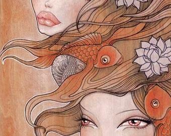 "Print of my original illustration ""Kailani & Ran"""