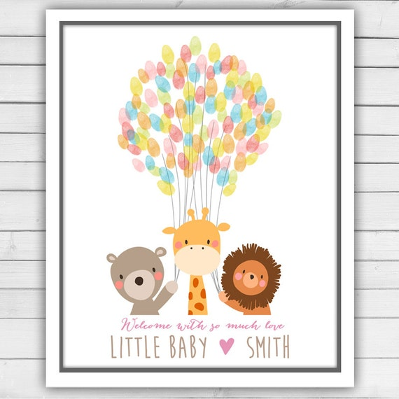 Baby Shower Thumbprint Guest Book | just b.CAUSE