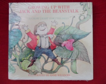 Grow Chart for Children - WJ Fantasy Keepsake - Art by Anne Wilsdorf - Sealed and Unopened - Suitable for Vintage Gift Giving - Clean