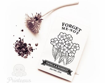 Printable Wedding Gift Envelope : Printable Wedding Favor Seed Envelope Template DIY Editable
