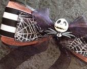Jack Skellington, Pumpkin King, Nightmare Before Christmas hair bow d