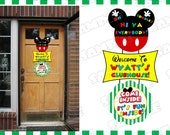 Mickey Mouse door sign mickey mouse clubhouse large sign with name mickey mouse party UPrint customized card by greenmelonstudios