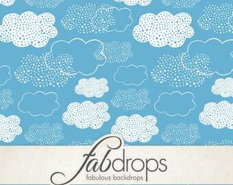 Cute Clouds Backdrop / Rain Clouds (FD5055)