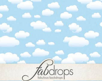 White Rain Clouds Backdrop With Blue Sky (FD5059)