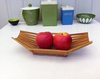 Wooden Fruit Bowl | Etsy