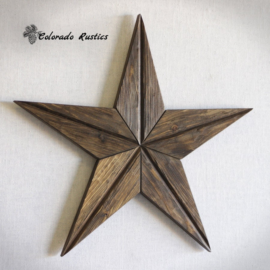 Rustic Star Wood Wall Art Texas Star Wall Décor by ...