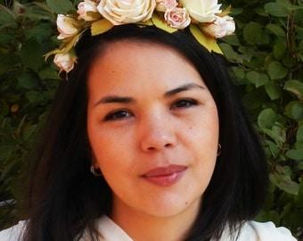 Wedding wreath with flowers