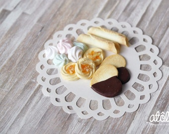 1:4 Assorted Cookies and Meringue Set for BJD Dolls
