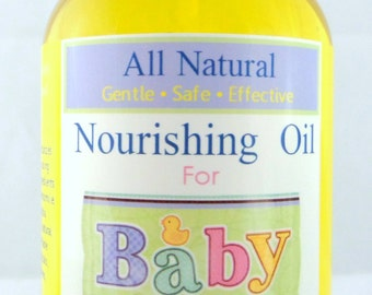 All Natural Nourishing Organic Baby Oil, Baby Massage Oil, Diaper Bag, Baby Shower, Bath Oil