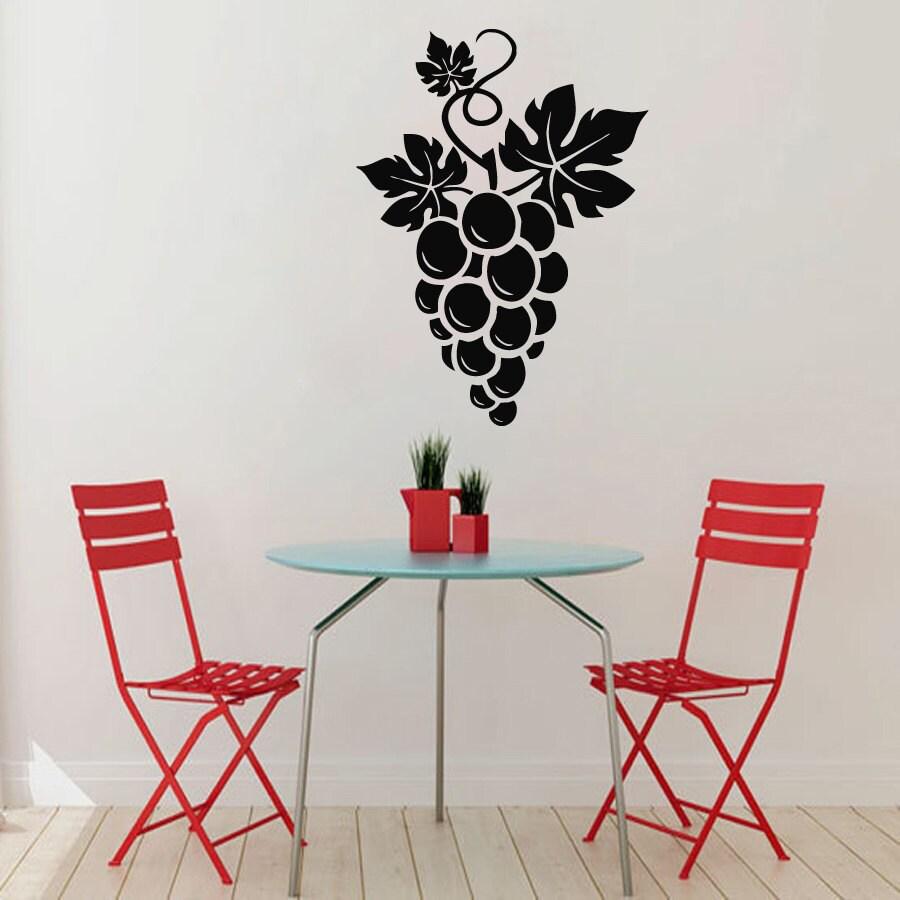 Grape Decor: Grapes Wall Decals Bunch Of Grapes Kitchen Wall Decor Grape