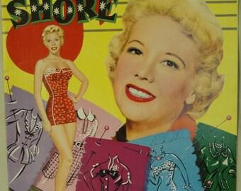 Dinah Shores: 2 Cut-Out Paper Dolls, 1956 Whitman #2060