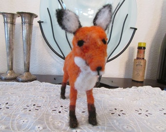 Needle Felted Fox, Pose-able