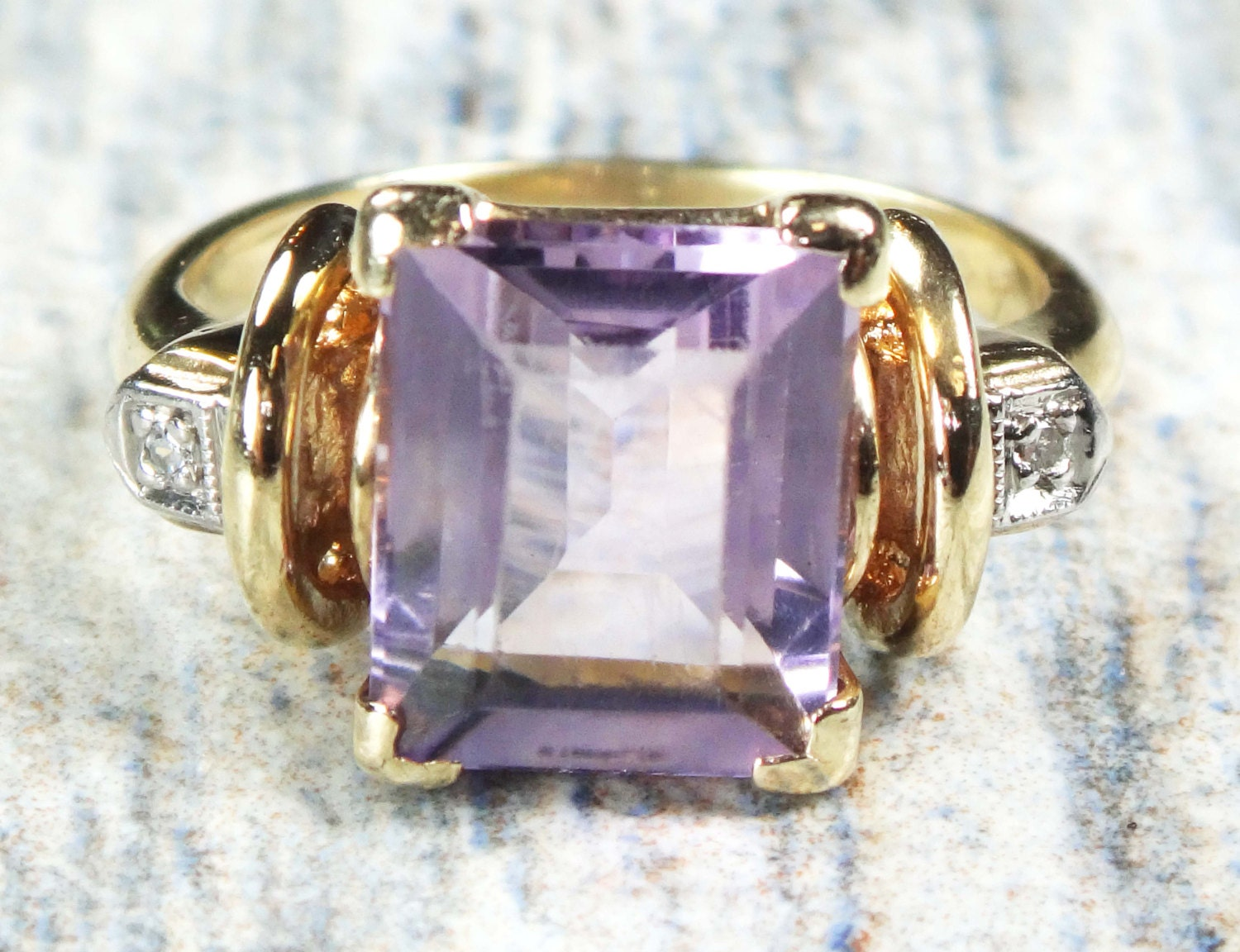 amethyst ring vintage - photo #49