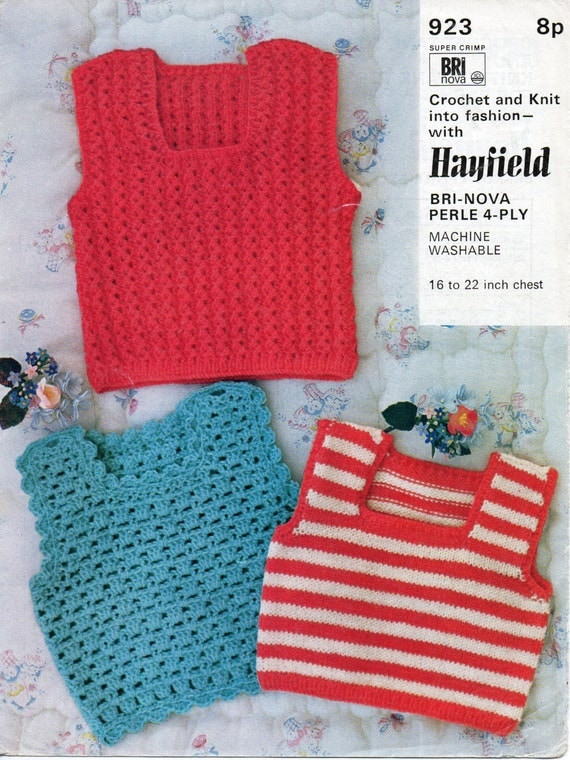 Free Crochet Pattern For Baby Tank Top : baby 4ply crochet tank top crochet pattern baby knitted tank