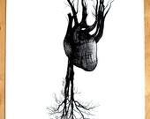 Tree Heart 13x19 Screen Print