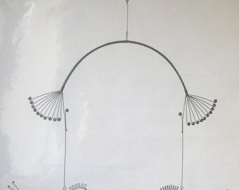 Two Wire Birds Mobile Metal Animal Sculpture
