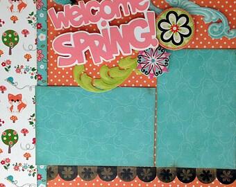 12x12 Scrapbook Layout Kit Spring 2 Page