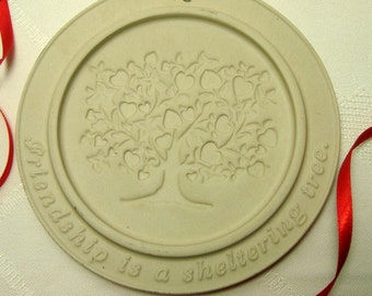 Cookie Mold Friendship Is a Sheltering Tree Gerald Henn Round Clay