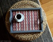 Tribal serving tray, wooden, hostess gift, made to order, fall winter home decor
