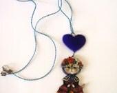 persian cat necklace, cat jewelry, persian cat jewelry, handmade cat necklace,  cat lady necklace, cat lady jewelry, cat inspired jewelry