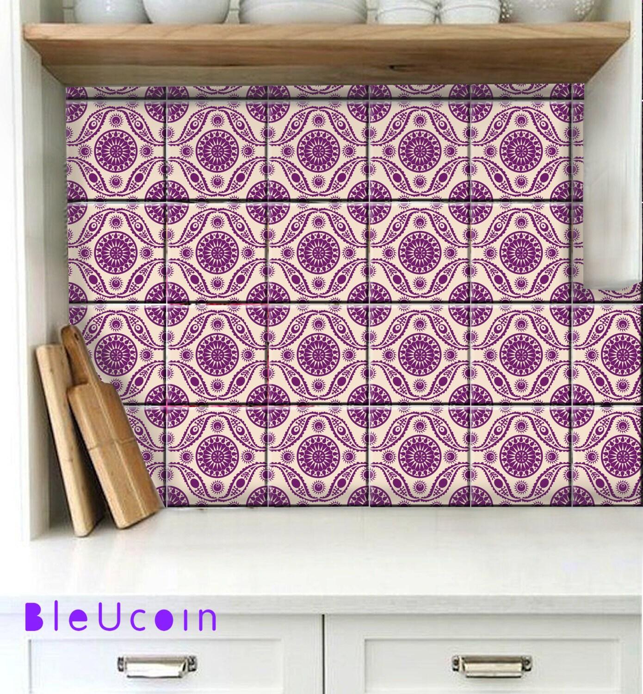 Tile Or Vinyl In Bathroom: Tile/wall Removable Vinyl Decal For Kitchen /bathroom/ Floor: