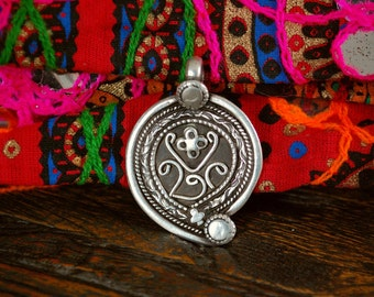 Old Indian Silver Amulet