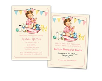 Nursery Rhyme Birthday Invitation Printable Humpty Dumpty - Vintage girl birthday invitation