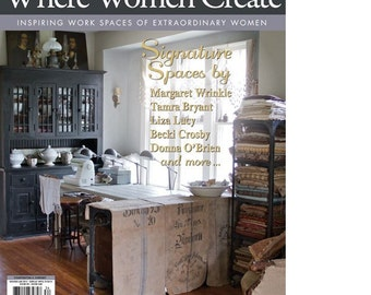 Magazine: Where Women Create Magazine from Stampington and Company Winter 2014