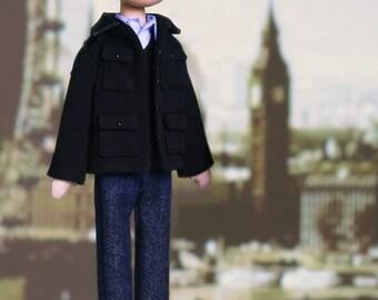 John Watson - handmade doll from BBC series Sherlock