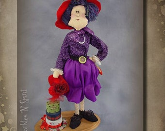 "Pattern: Ruby- 25"" Red Hat Lady"