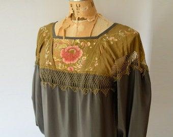 silken shawl dress