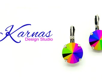 SALE 20% JAIS SCARABE Ultra Vintage 12mm Drop Earrings Made With Swarovski Elements *Pick Your Finish *Karnas Design Studio™ *Free Shipping*