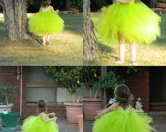 Green Pixie Fairy Tutu Dress-Tinkerbell Fairy Tutu Dress Costume- Newborn,1T,2T,3T up to 10T  Birthday Costume