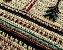 Digital Pattern-Arrows of Protection Native American Inspired Baby Afghan, Blanket Throw. Baby Crochet Pattern. Nursery Decor. Baby Blanket