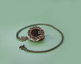 Claddagh Locket, Locket Necklace, Vintage Locket Necklace, Secret Locket, Brass Locket Antique Locket,, Gifts for Her