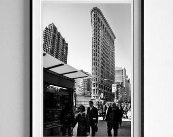 Original photograph in black and white Flatiron Building, New York