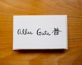 German Birthday Card - Alles Gute Karte, birthday card