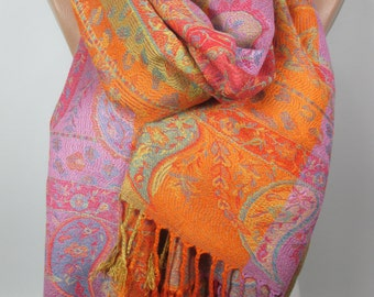 Large Pashmina Scarf Shawl Oversize Cowl Scarf Fall Winter Scarf Women Holiday Fashion Accessories Christmas Gift Ideas For Her For Women