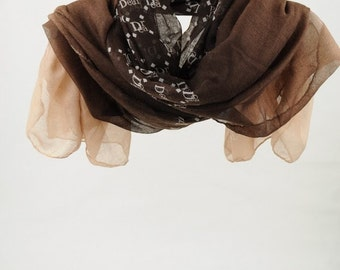 Scarf, Brown Scarf, Women's Scarves, for Woman, Shawl, Large Scarves, Long Scarf, Fashion Accessories, Gift for Her (VS-03-01)