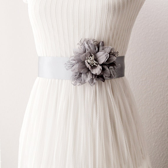 Flower Belts For Wedding Dresses: Items Similar To Bridal Couture