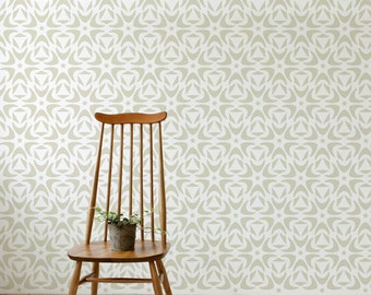 Moroccan Floral style - DIY home decor - Large decorative wall stencil for DIY project -Wallpaper look - Easy home decor