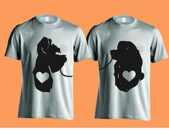 Disney Couple Shirts Lady and the Tramp - Just Married, His and Hers, Wedding Gift, Anniversary Gift