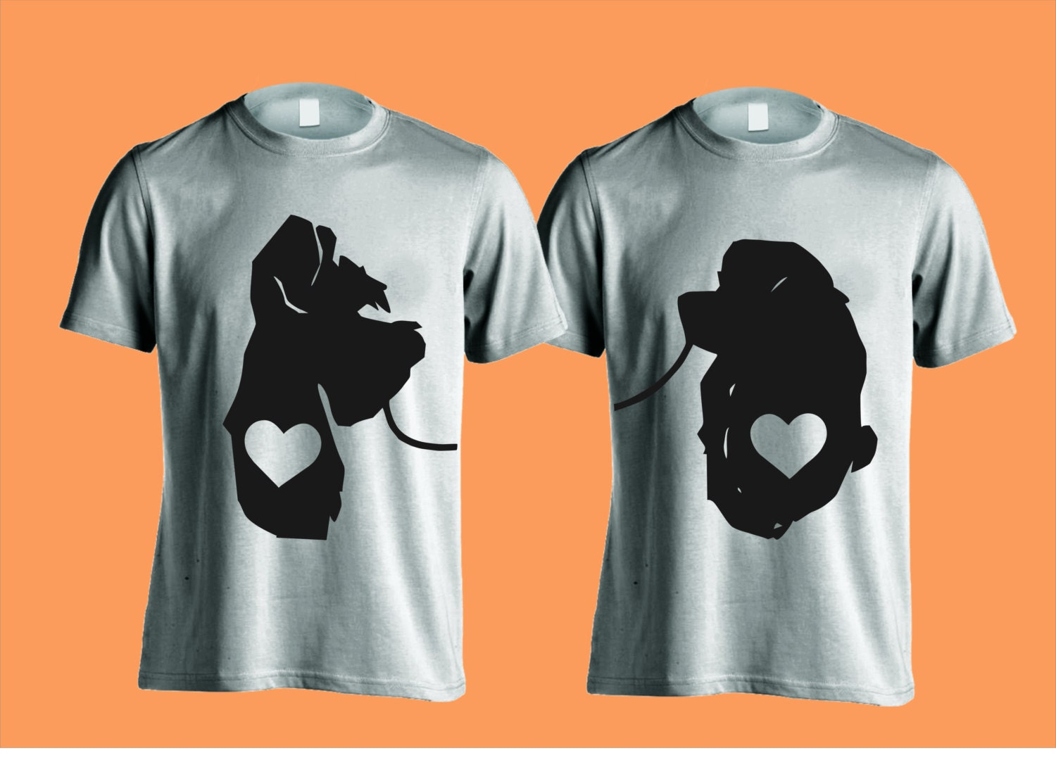 Disney Couple Shirts Lady And The Tramp Just Married His