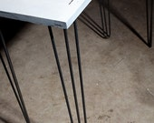 "3-rod hairpin legs 28"" Set of 4 Raw and Powder coated options available"
