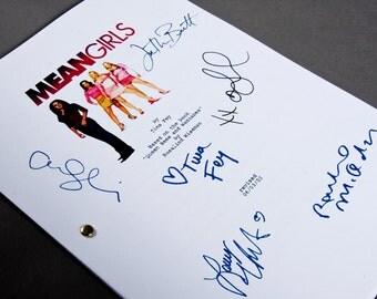 Mean Girls Film Movie Script with Signatures/Autographs Reprint Lindsay Lohan
