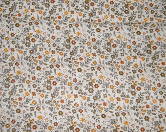 BTY Yellow & Gray Floral Print 100% Cotton Quilt Crafting Fabric by the Yard
